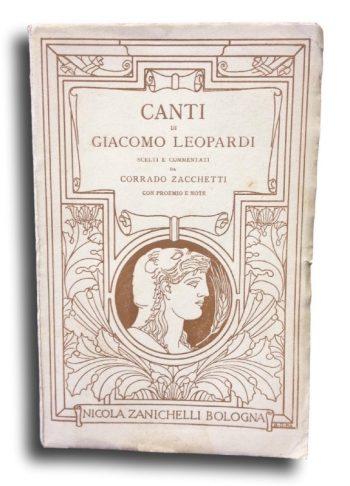 CANTI di GIACOMO LEOPARDI  <BR/> Corrado Zacchetti