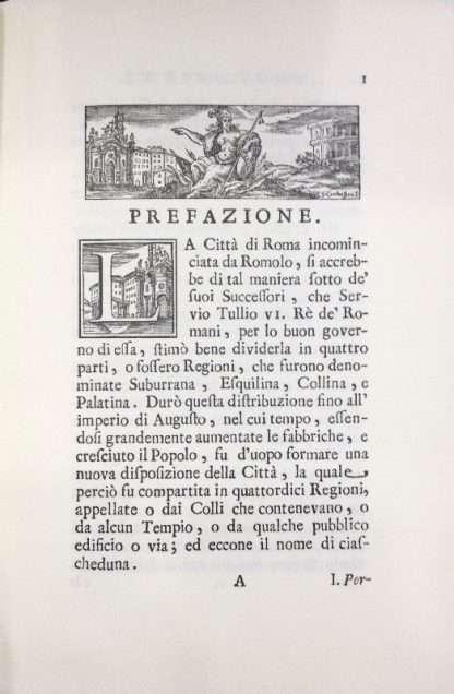 DESCRIZIONE DEL NUOVO RIPARTIMENTO DEI RIONI DI ROMA  <BR/> Bernardino Bernardini