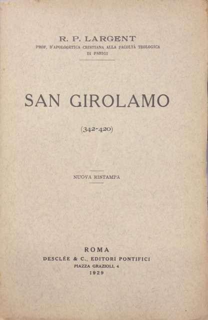 SAN GIROLAMO (342-420) <BR/> Largent R.P.