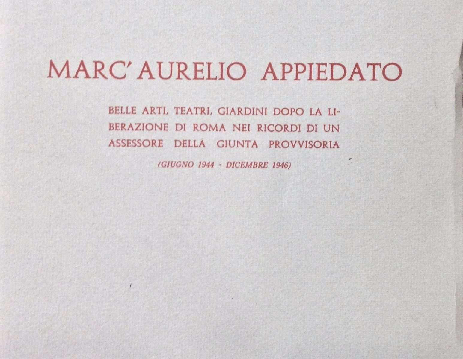 MARC'AURELIO APPIEDATO  <BR/> Valerio De Sanctis