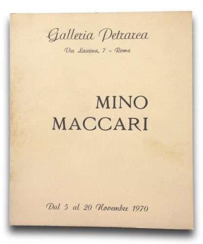 MINO MACCARI <BR/>
