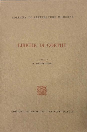 LIRICHE DI GOETHE