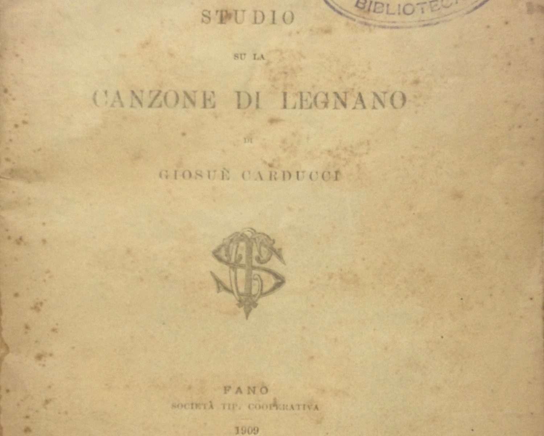 STUDIO SU LA CANZONE DI LEGNANO DI GIOSUE' CARDUCCI