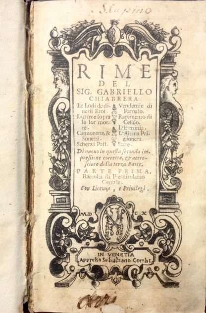 DELLE RIME <BR/>Gabriello Chiabrera