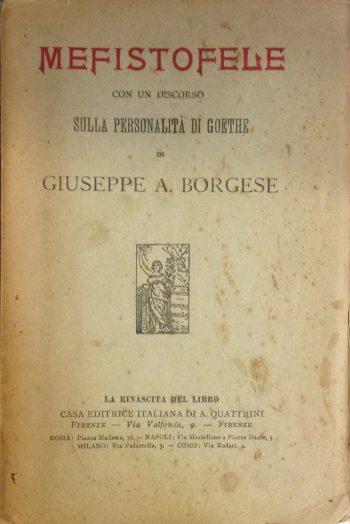MEFISTOFELE Con un discorso sulla personalità di Goethe