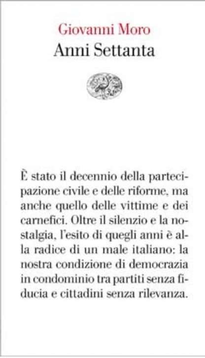 ANNI SETTANTA <BR/> Giovanni Moro