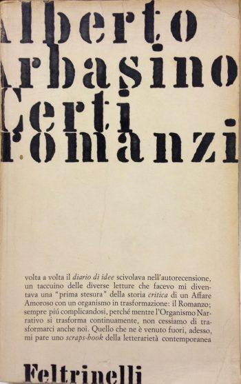 CERTI ROMANZI <BR/> Alberto Arbasino