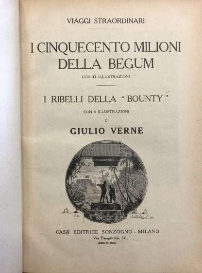 I CINQUECENTO MILIONI DELLA BEGUM Giulio Verne