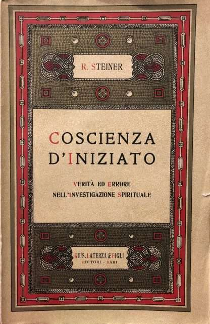 COSCIENZA D'INIZIATO <BR/> Rudolf Steiner