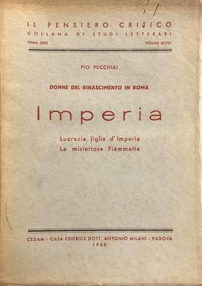 DONNE DEL RINASCIMENTO IN ROMA Pio Pecchiali